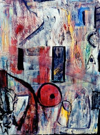 Mooie originele abstract olieverfschilderij
