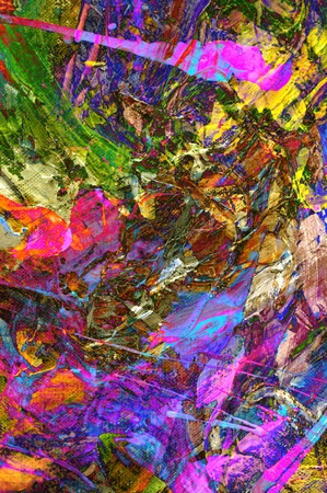 Nice Image of a Original Abstract On Glass Painting photo