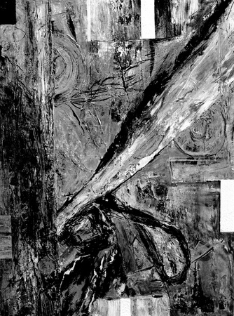 Nice Abstract Original oil Painting mixed media in monotone photo