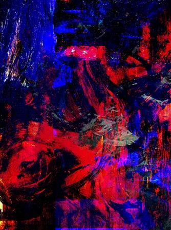 Very Nice Afbeelding van een grootschalige abstracte Origineel schilderij Stockfoto