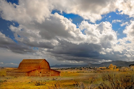 Beautiful image of a passing Storm in new mexico