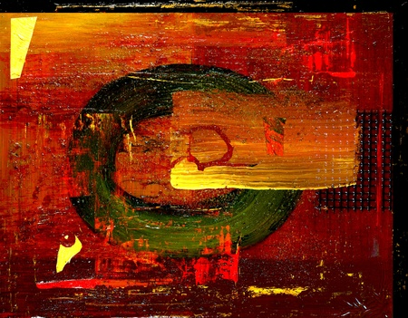 fused: Image of Mixed media Oil Painting With fused Glass