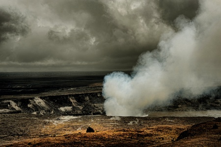 Amazing Image of the Kilauea Volcano on the big Island of Hawaii photo