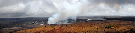Dramatic Panorama Image of the Kilauea Volcano in Hawaii photo