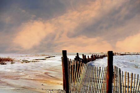 sea grass: Beautiful Image of the white sand beaches of Florida Stock Photo