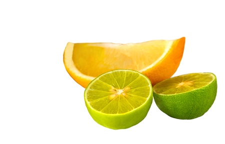 Nice isolated image of Two Limes and a Lemon Stock Photo - 13619469