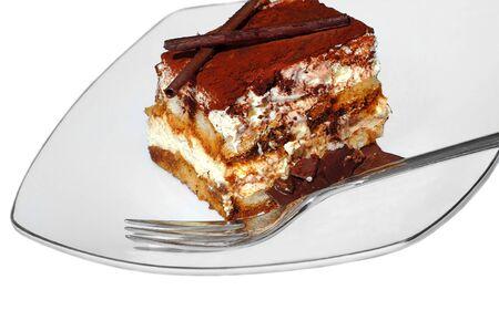 Beautiful isolated Image of Delicious tiramisu dessert photo
