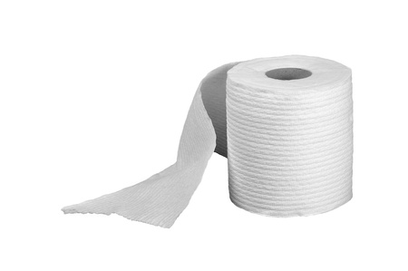 Nice Image of a Isolated roll of toilet paper Stock Photo - 13619474
