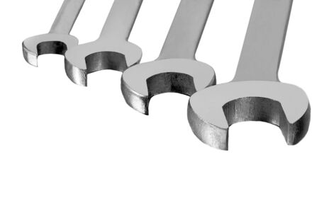osolated: Nice image of Four Wrenches osolated on white
