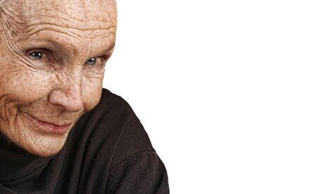 Bonita imagen de una anciana pac�fica Foto de archivo - 14435579