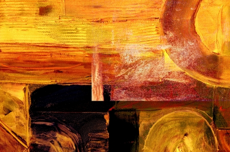 abstract paintings: nice Image of a large scale Abstract. plastic over Oil On Canvas Stock Photo