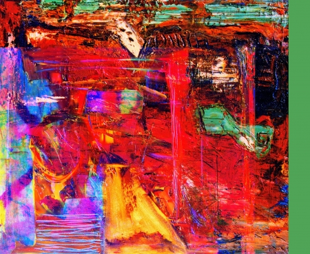 Nice Image of an original Abstract painting On Canvas Banque d'images