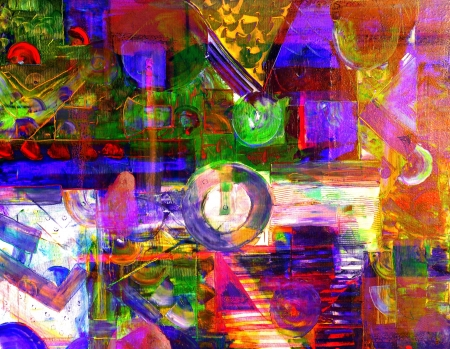 Image of An Original  painting on Canvas, Mixed media photo