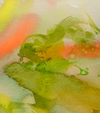 Mooi Beeld van een originele waterverf abstract op papier