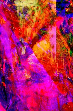 Mooie grote schaal Originele abstracte Olieverfschilderij Op Glas