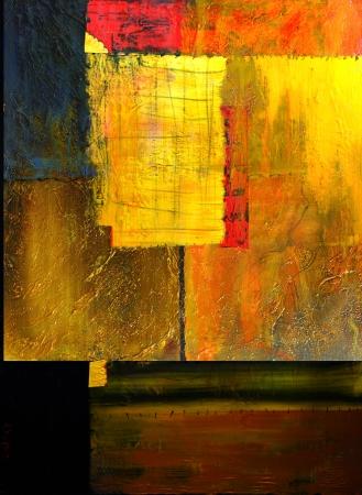 Dit is een origineel Olieverfschilderij, Olie en mixed media op doek
