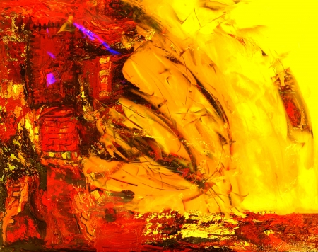 art abstract: Hermoso gran escala pintura abstracta en lona