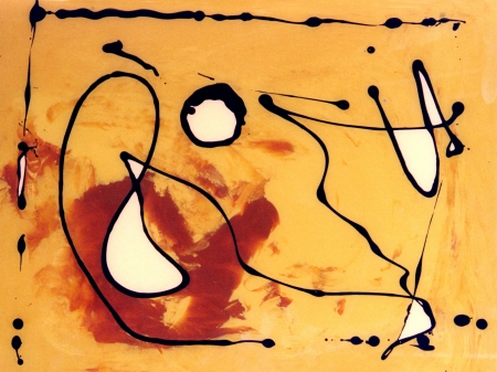 oil paintings: very Nice Image of a Abstract painting On Glass in Verso