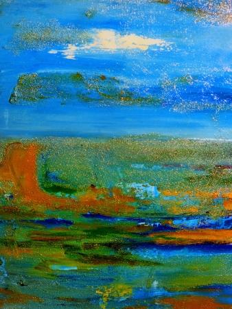 Mooie grote schaal Abstract mixed media schilderij op doek