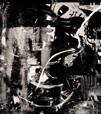 cuadros abstractos: Imagen de una pintura abstracta original en lona