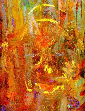 Zeer mooie originele abstract olieverfschilderij op canvas