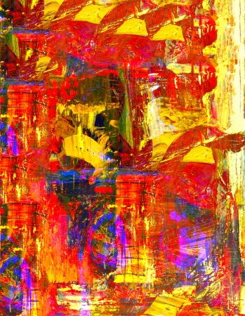 artist painting: Very nice original abstract oil Painting On Canvas Stock Photo
