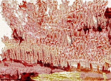 woodblock: Nice Image Of a Original Abstract woodblock painting