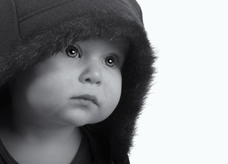 Very Cute Image of a Young Girl Newborn In Jacket