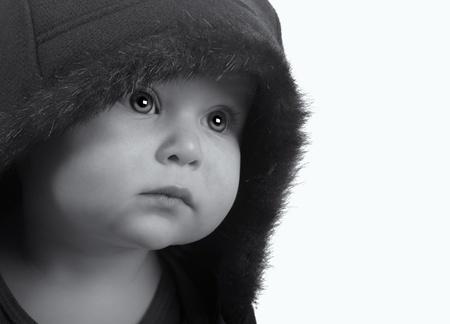 Imagen muy linda de una joven recién nacido En Chaqueta Foto de archivo - 17382343