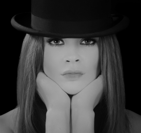 Beautiful Image Of a Glamour Model In Bowler Hat
