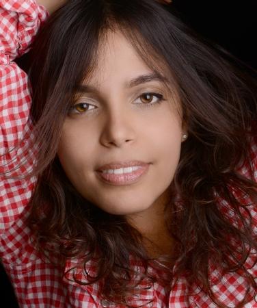 mexican girl: Image of a Beautiful Latino Woman Stock Photo