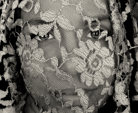 mexican black: Nice Image of a latino woman under a Veil