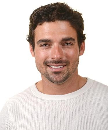 visage homme: Belle image d'un bel homme Banque d'images