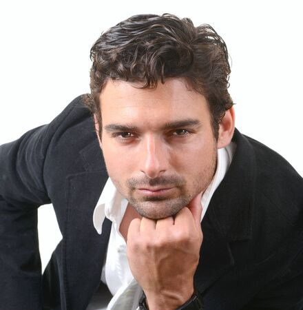 Very Nice portrait Of a Handsome Italian man Stock Photo - 18765402