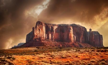 Beautiful Image in Spring Of Monument Valley,Utah