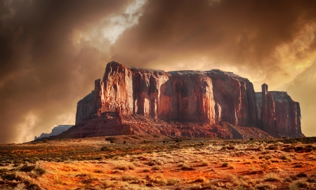Beautiful Image in Spring Of Monument Valley,Utah