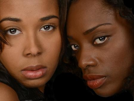 Nice Image of 2 Afro american women in studio photo