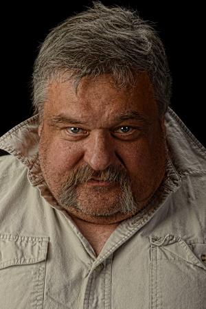old man beard: Nice Studio portrait of a senior Man on Black