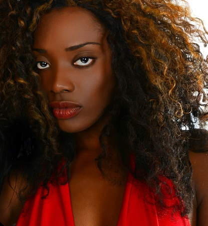 african woman face: Beautiful Image of a Afro American Glamour Model  Stock Photo