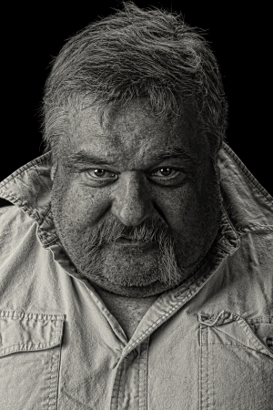 old man beard: Nice studio Black and white portrait of a old man