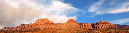 nevada: Beautiful panorama of the red Rock mountains in nevada Stock Photo