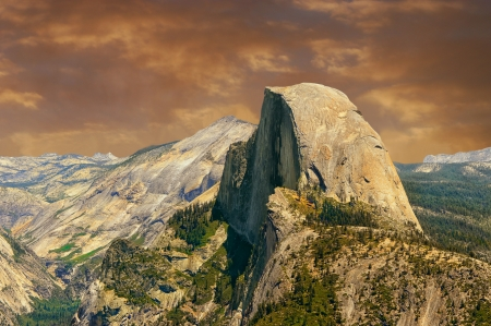 Beautiful Image of half Dome from Glacier point,Yosemite