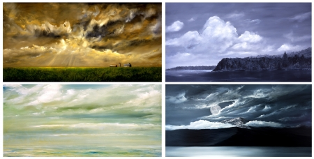 Mooi Beeld van een verzameling van Landschap schilderijen te genieten