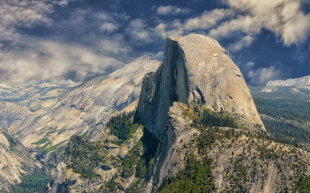 Beautiful Image of Half Dome Yosemite from Glacier point