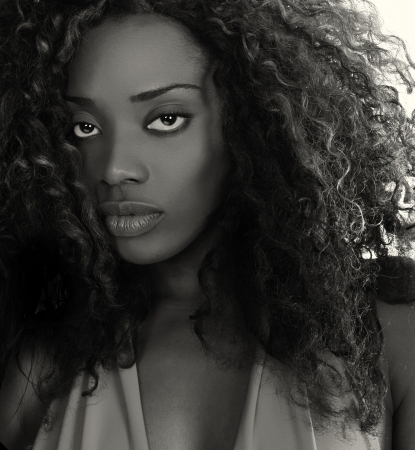 Beautiful Image of a Afro American Glamour Model  photo