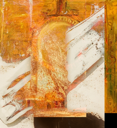 nice Image of a large scale Abstract. plastic over Oil On Canvas photo