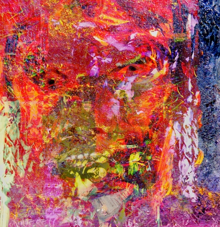 figurative: Nice Abstract Figurative Original oil Painting mixed media