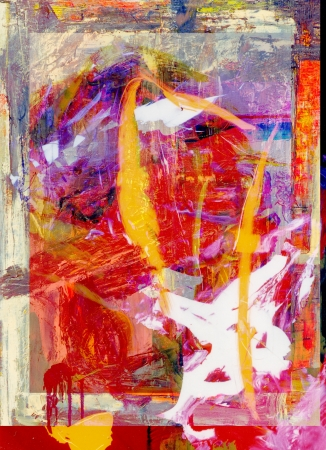 acrylic painting: Image of a Original Oil Painting On Glass