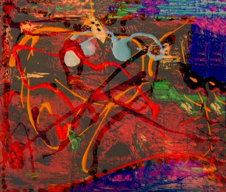 Interesting Figurative Image of Abstract On Glass In Verso photo