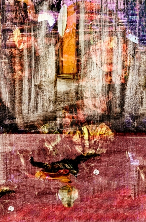 Image of a Mixed media Original Painting on Paper Stockfoto